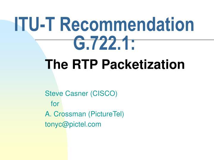 ITU-T Recommendation G.722.1: