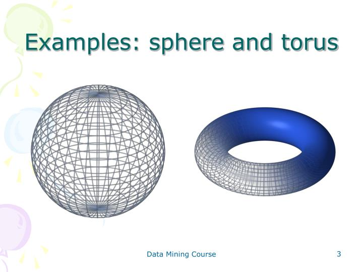Examples: sphere and torus