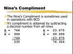 nine s compliment