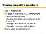 storing negative numbers