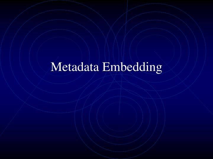 Metadata Embedding