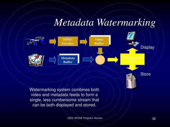 Metadata Watermarking