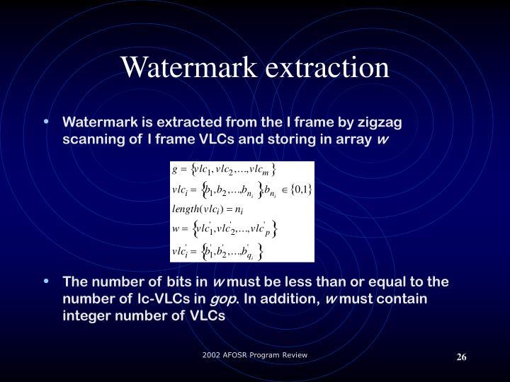 Watermark extraction
