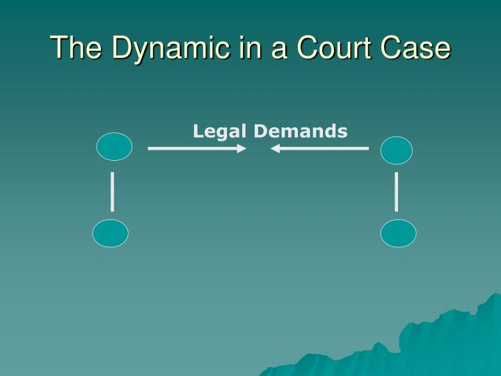 The Dynamic in a Court Case