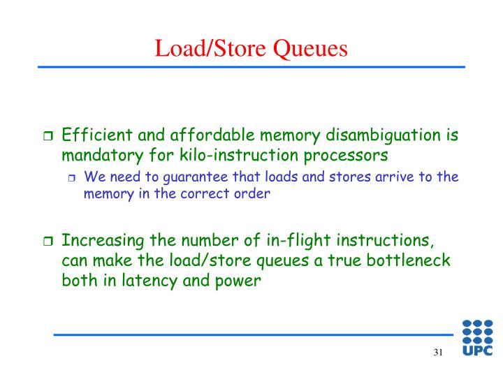 Load/Store Queues