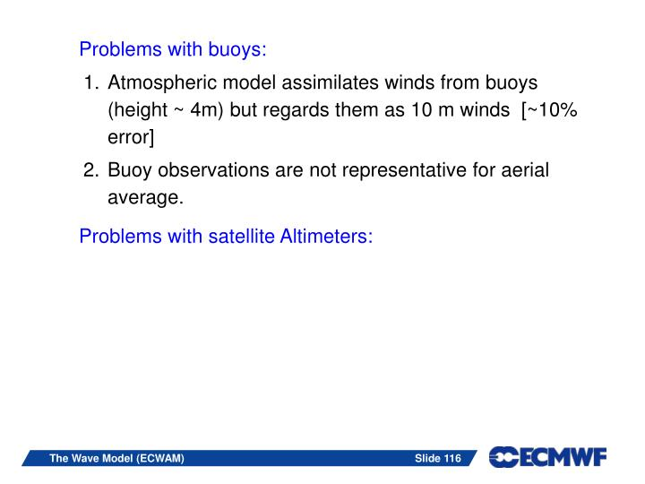 Problems with buoys:
