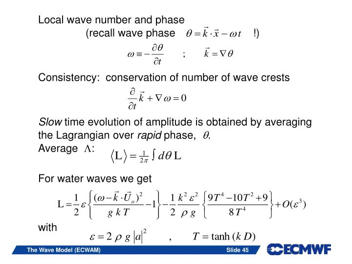 Local wave number and phase