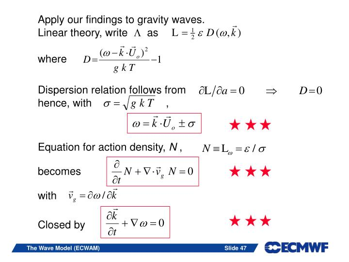 Apply our findings to gravity waves.