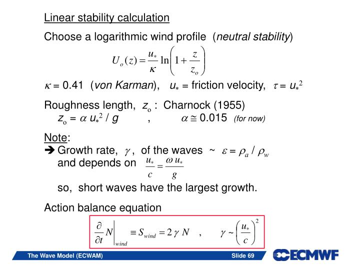Linear stability calculation
