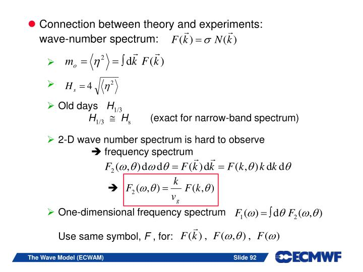 Connection between theory and experiments: