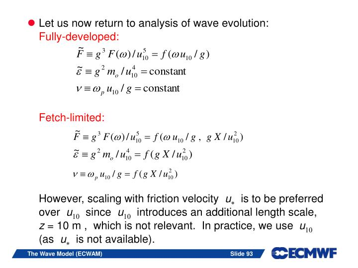 Let us now return to analysis of wave evolution: