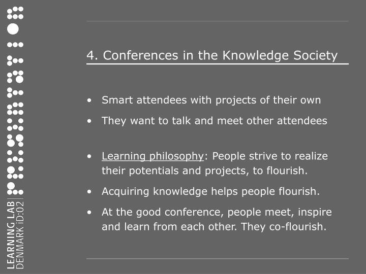 4. Conferences in the Knowledge Society