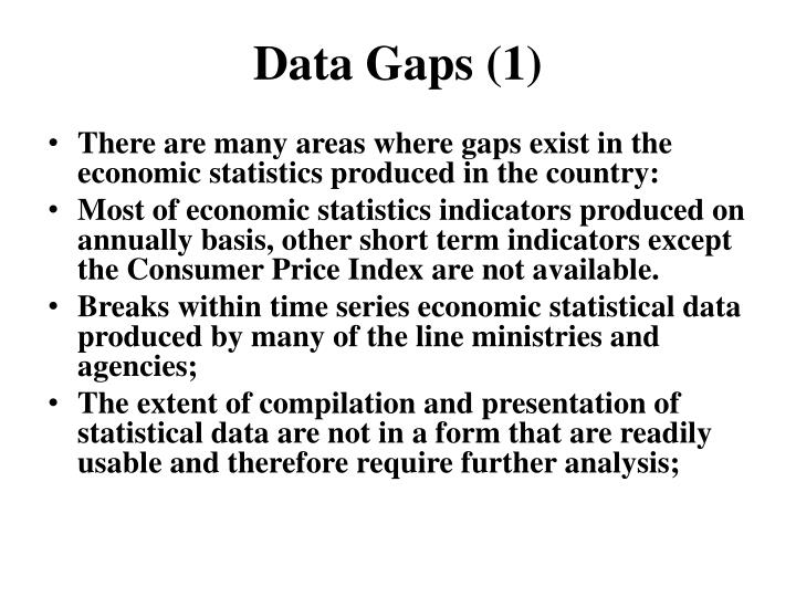 Data Gaps (1)