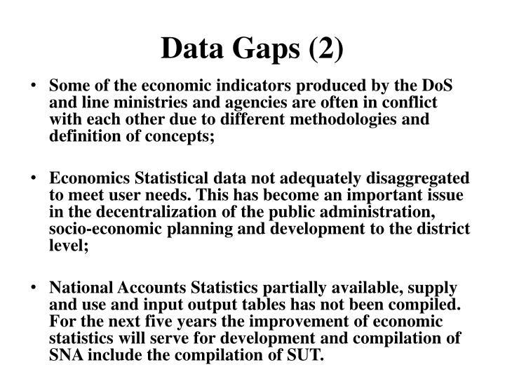 Data Gaps (2)