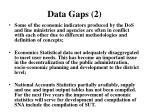 data gaps 2