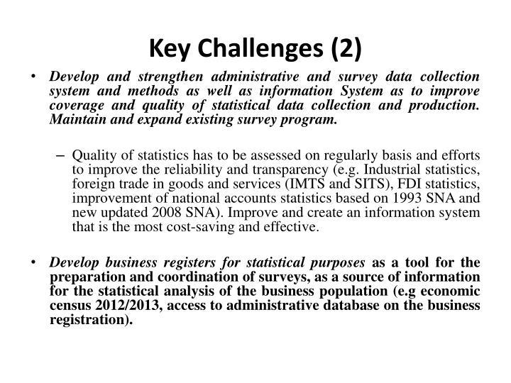 Key Challenges (2)