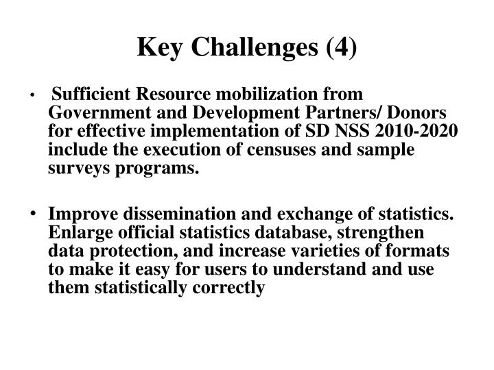 Key Challenges (4)