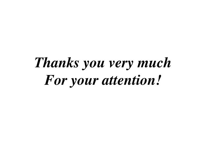 Thanks you very much