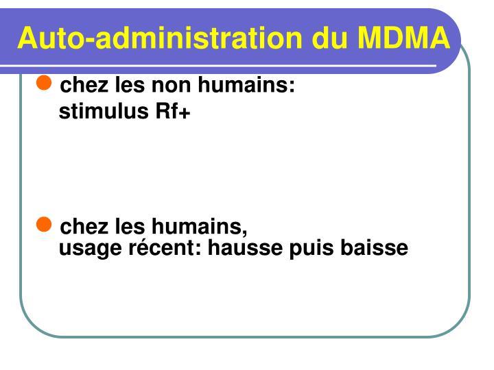 Auto-administration du MDMA