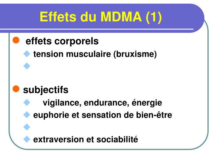 Effets du MDMA (1)