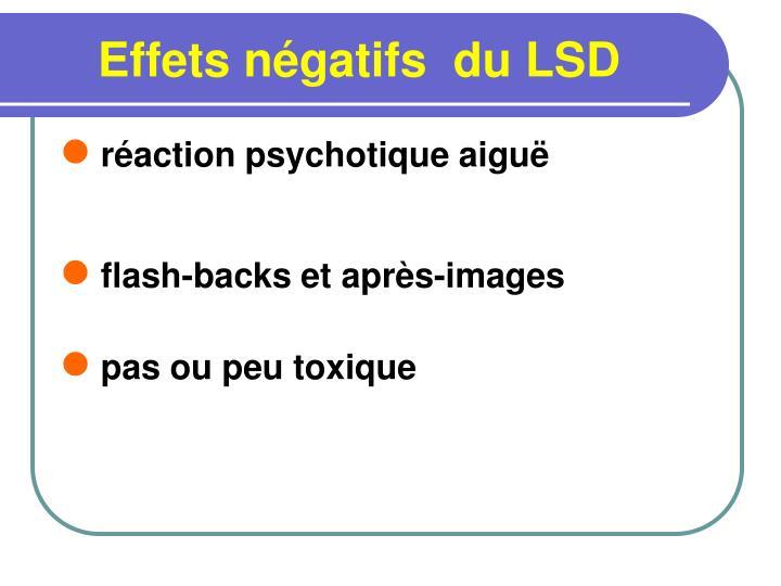Effets négatifs  du LSD
