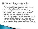 historical steganography