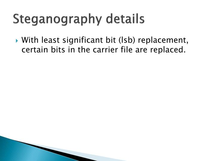 Steganography details