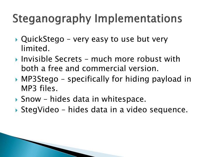 Steganography Implementations