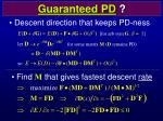 guaranteed pd
