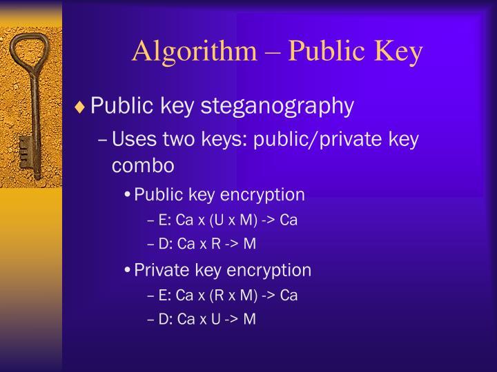 Algorithm – Public Key