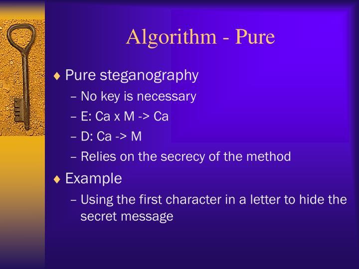 Algorithm - Pure