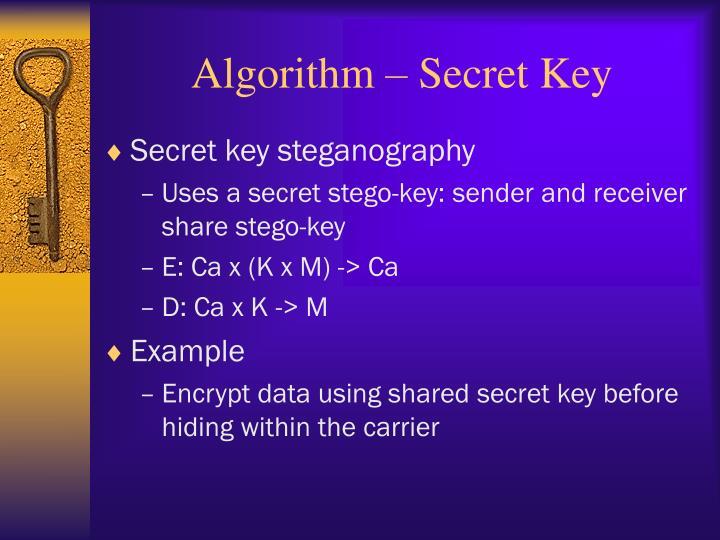 Algorithm – Secret Key