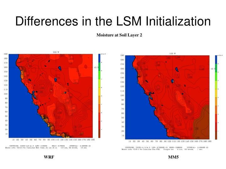 Differences in the LSM Initialization
