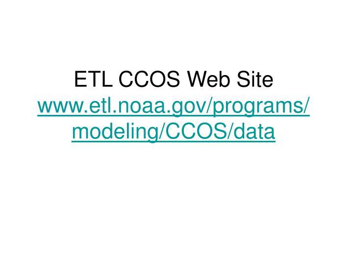 ETL CCOS Web Site