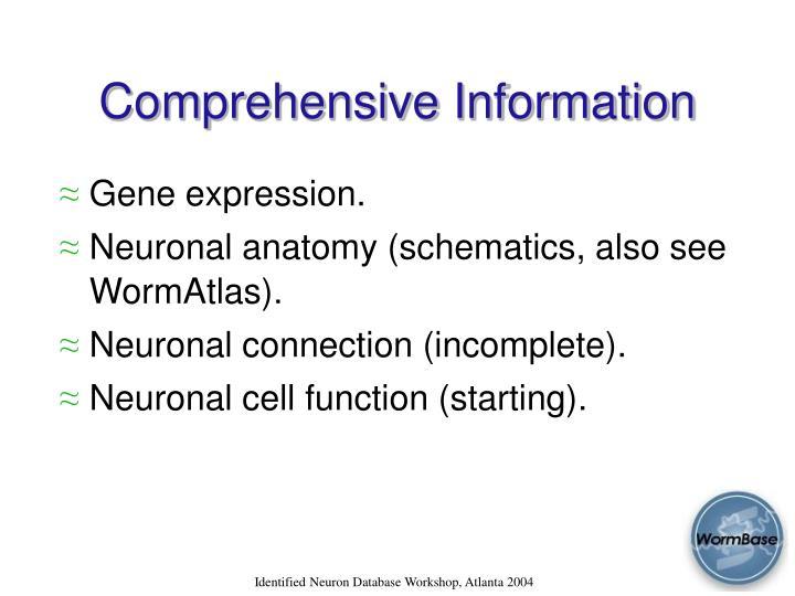 Comprehensive Information