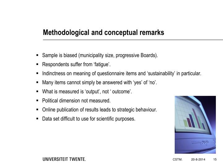 Methodological and conceptual remarks