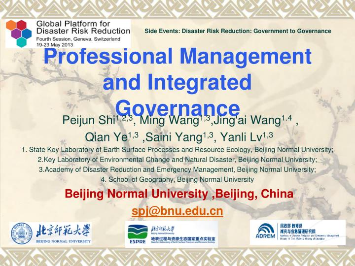 Professional management and integrated governance