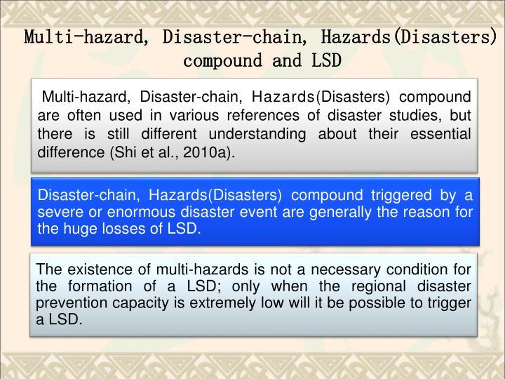 Multi-hazard, Disaster-chain, H