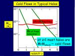 cold flows in typical halos