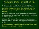 conclusions stellar halo and dark halo