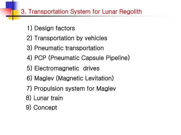 1) Design factors