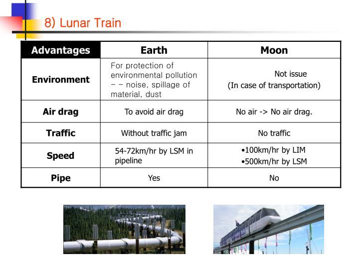 8) Lunar Train