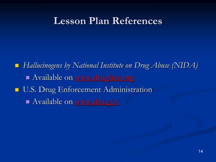 Lesson Plan References