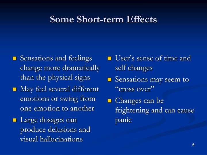 Some Short-term Effects