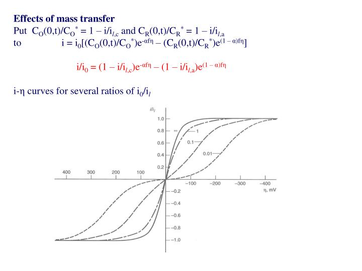 Effects of mass transfer