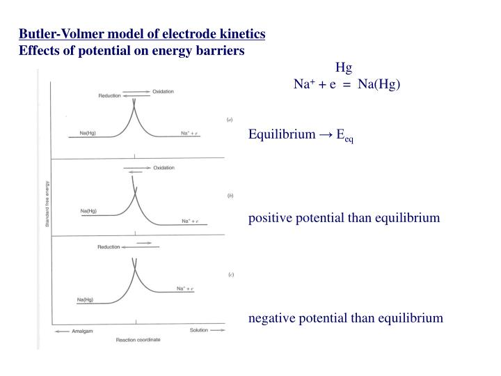 Butler-Volmer model of electrode kinetics