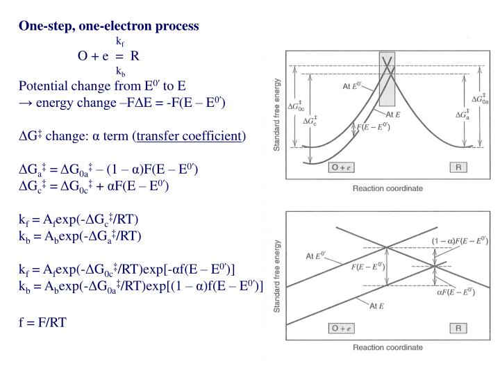 One-step, one-electron process