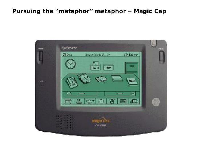 """Pursuing the """"metaphor"""" metaphor – Magic Cap"""