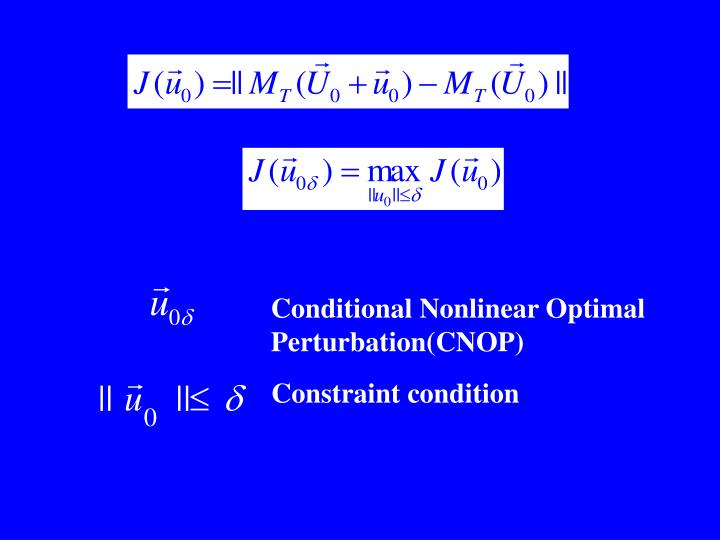 Conditional Nonlinear Optimal Perturbation(CNOP)