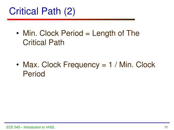 Critical Path (2)